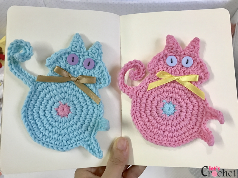 Peeking Cat Butt Coaster Free Crochet Pattern