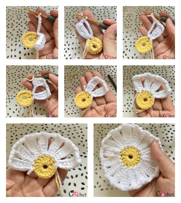 Daisy Coasters Free Crochet Pattern