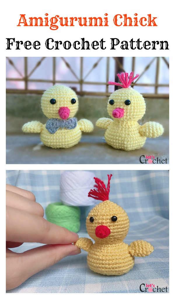 Free Adorable Baby Amigurumi Chick Crochet Pattern