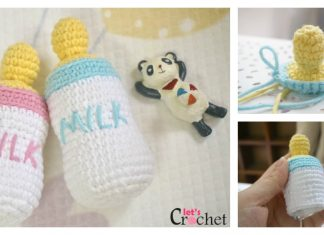 FREE Feeding Baby Bottle Amigurumi Crochet Pattern