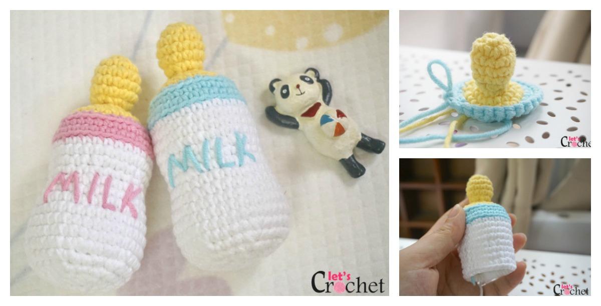 Free Feeding Baby Bottle Amigurumi Crochet Pattern