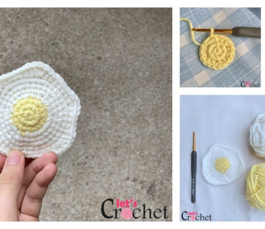FREE Fried Egg Crochet Pattern