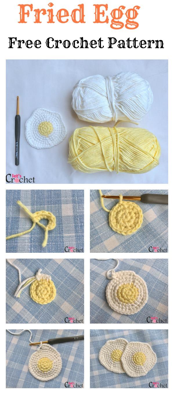 FREE Fried Egg Crochet Pattern