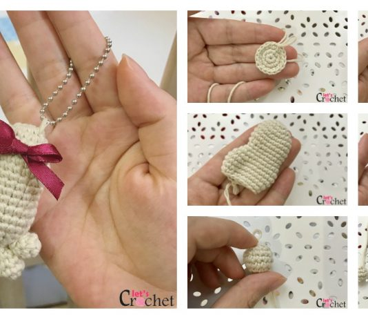 Mini Amigurumi Footprint Keychain Free Crochet Pattern