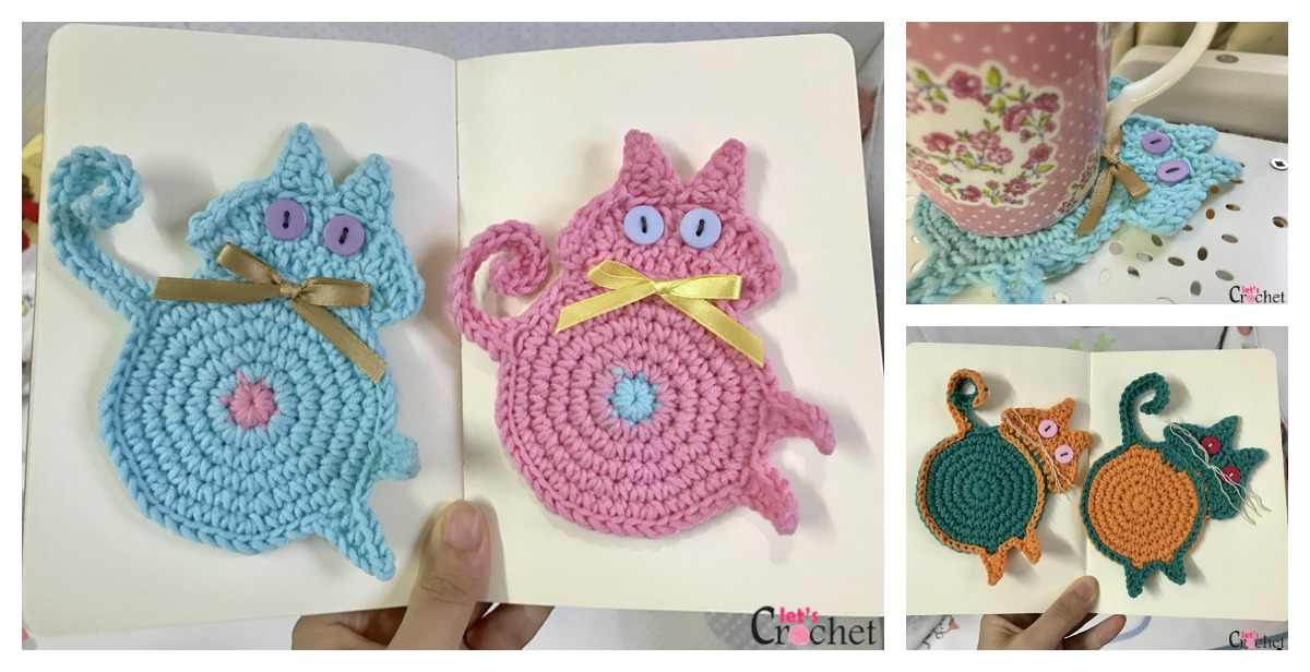 Crochet Cat Butt Coastet Pattern Video