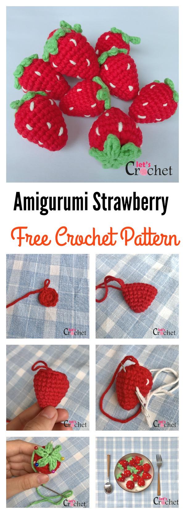 Adorable Amigurumi Strawberry Free Crochet Pattern