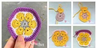 African Flower Free Crochet Pattern