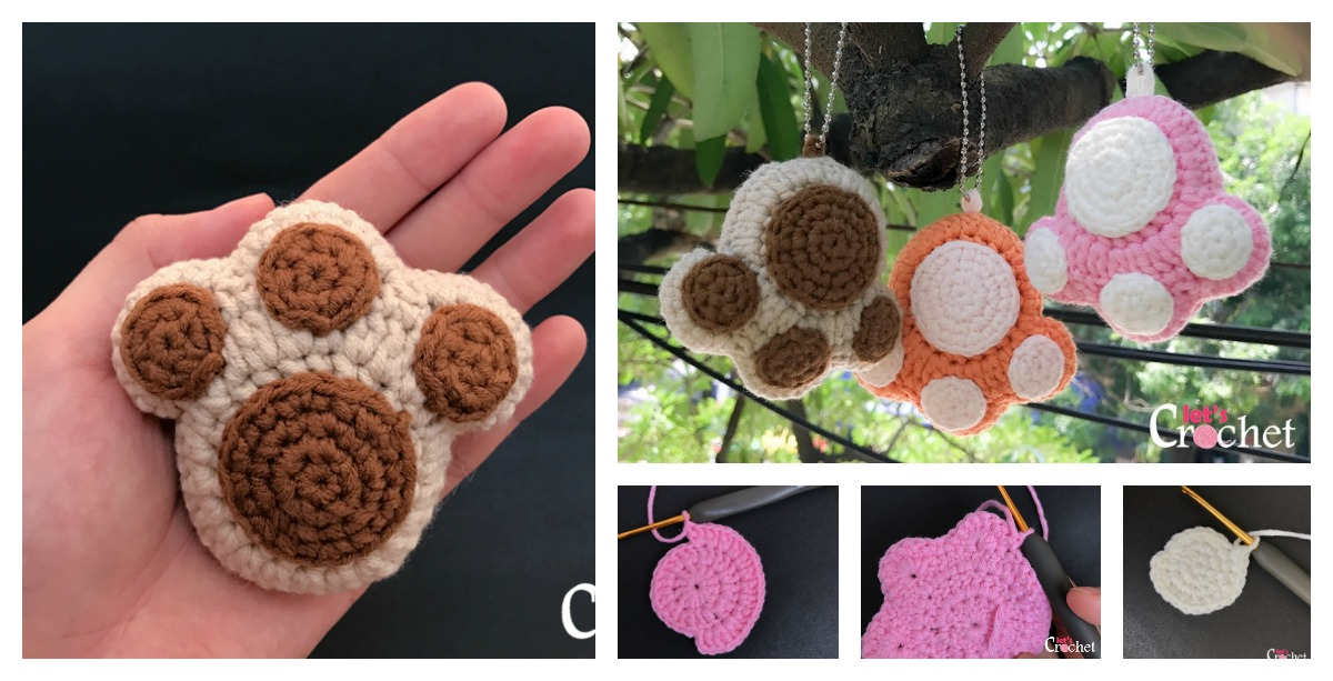 Paw Print Keychain Free Crochet Pattern 60d12682b