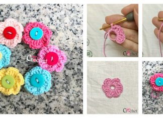 Quick and Easy 6 Petal Flower Free Crochet Pattern