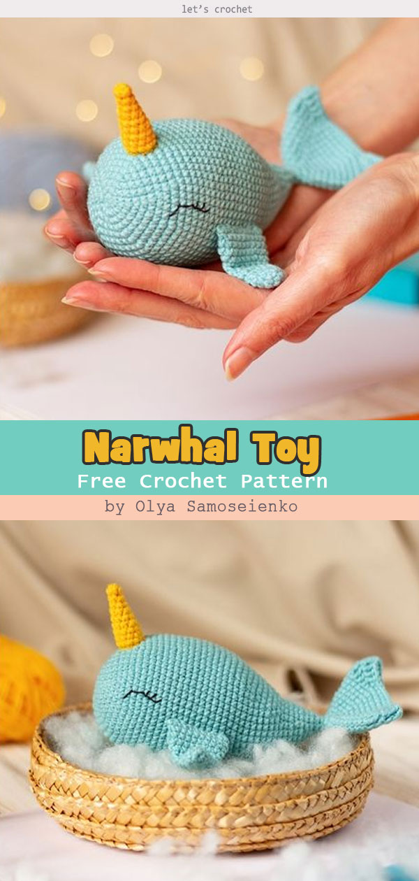 Narwhal Toy Free Amigurumi Pattern