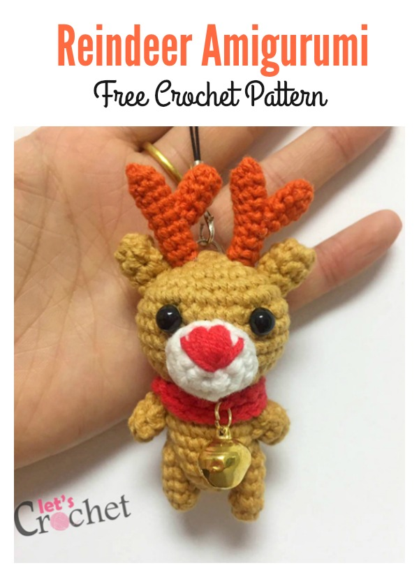 Adorable Mini Reindeer Amigurumi Free Crochet Pattern