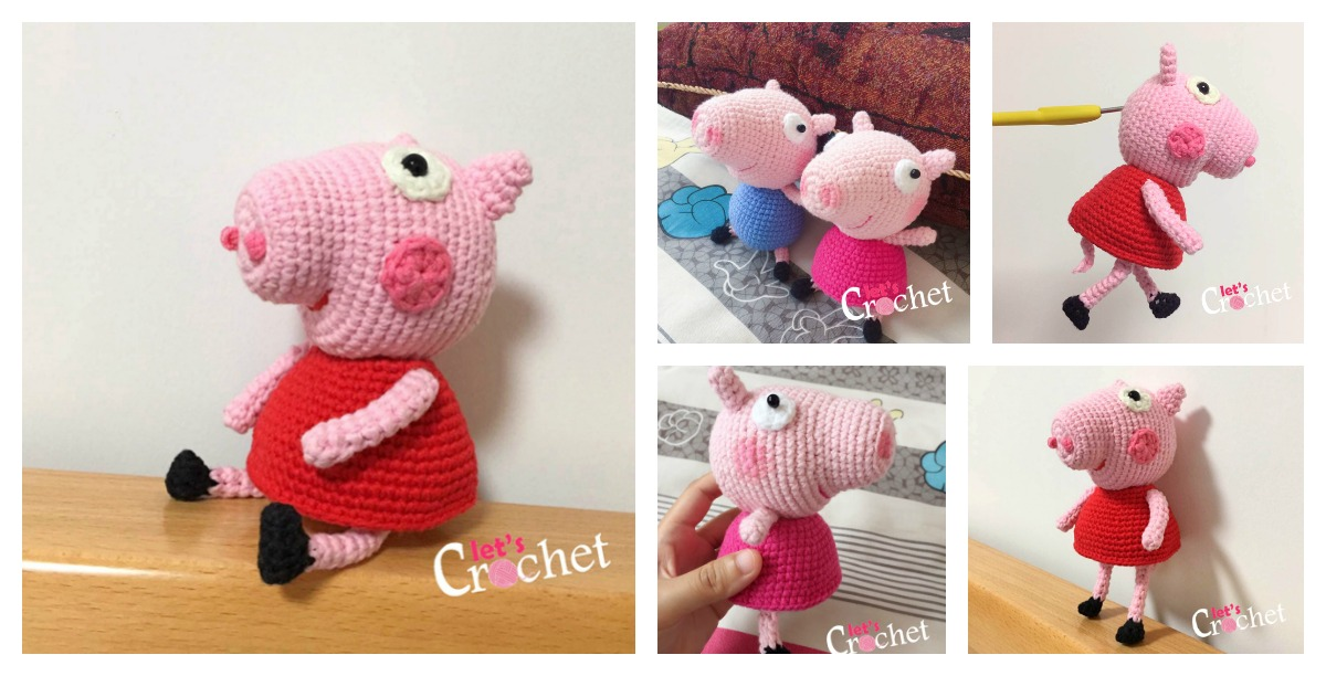 Beautiful Skills - Crochet Knitting Quilting : Pig Amigurumi ... | 612x1200
