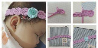 Headband Flower Free Crochet Pattern