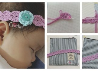 Headband Flower Free Crochet Pattern