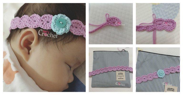 Baby Headband Flower Free Crochet Pattern