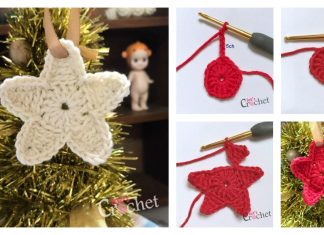 Christmas Tree Star Ornament Free Crochet Pattern