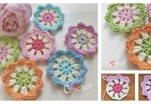 Flower Motif Free Crochet Pattern