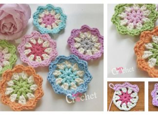 Flower Motif Free Crochet Pattern