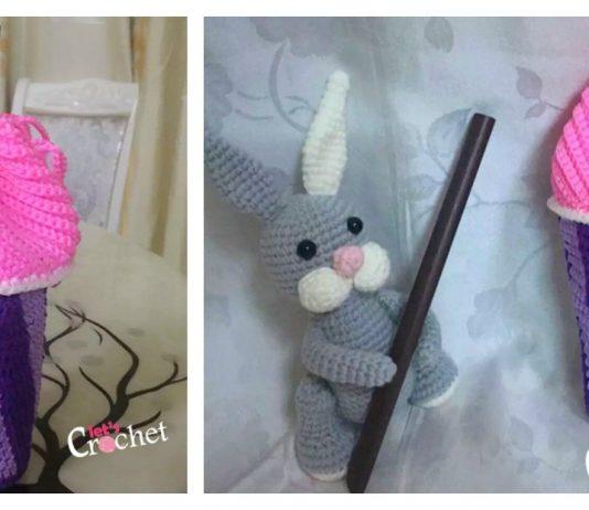 Slushee Cup Drawstring Bag Free Crochet Pattern