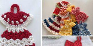 Dress Potholder Angel Free Crochet Pattern