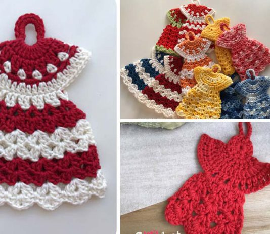 Dress Potholder Angel Free Crochet Pattern