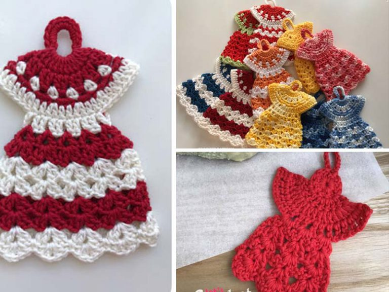 Dress Potholder Angel Christmas Free Crochet Pattern