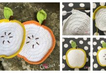 Adorable Apple Dishcloth Free Crochet Pattern