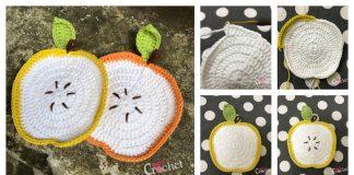 Adorable Apple Dishcloth Free Crochet Pattern