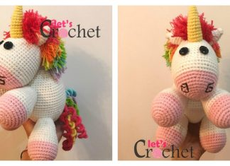 Adorable Unicorn Free Crochet Pattern