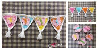 Pennant Garland Free Crochet Pattern
