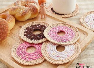 Sprinkle Dount Coaster Free Crochet Pattern