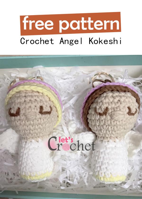 crochet - part 1 of 2) How To Crochet a Kokeshi Japanese Doll ... | 842x600