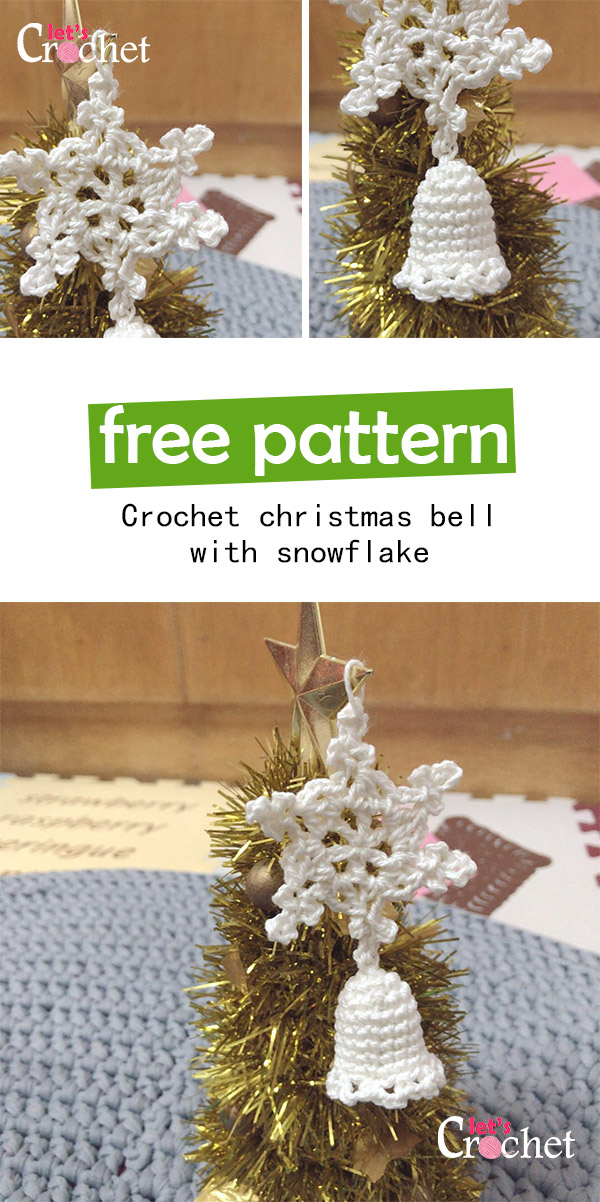 Christmas Bell With Snowflake Free Crochet Pattern
