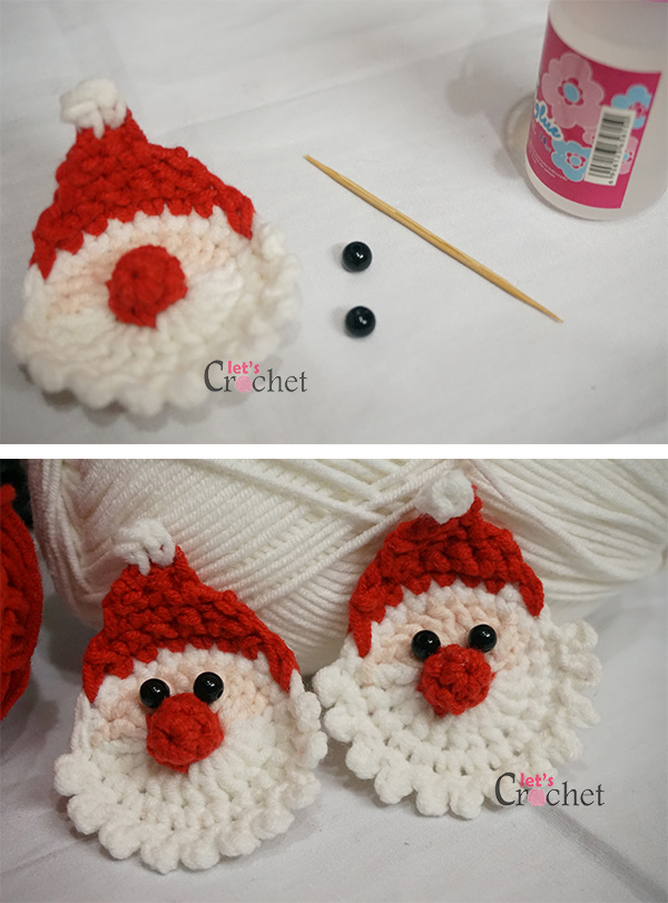 Santa Claus Christmas Hanging Decoration Free Crochet Pattern - A ...
