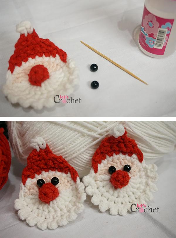 Santa Claus Christmas Hanging Decoration Free Crochet Pattern