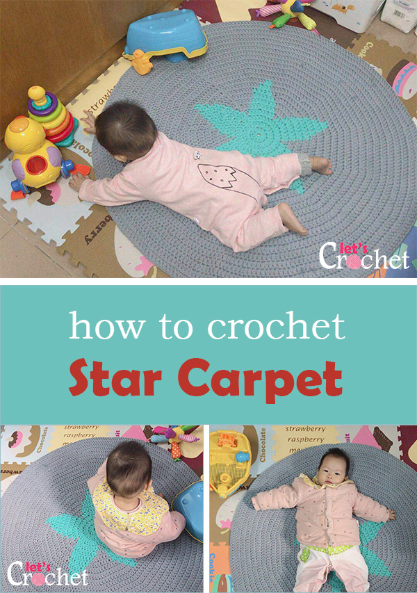 crochet a star carpet for free pattern