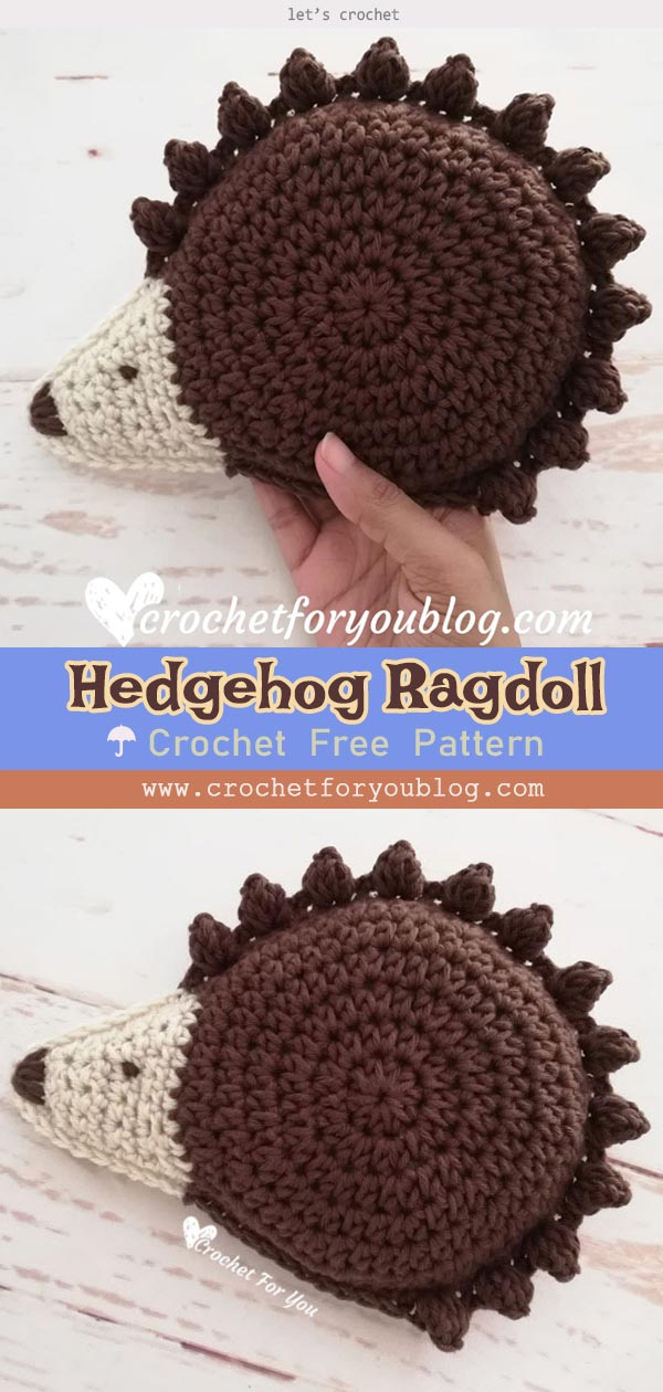 Hedgehog Ragdoll Amigurumi Crochet Free Pattern
