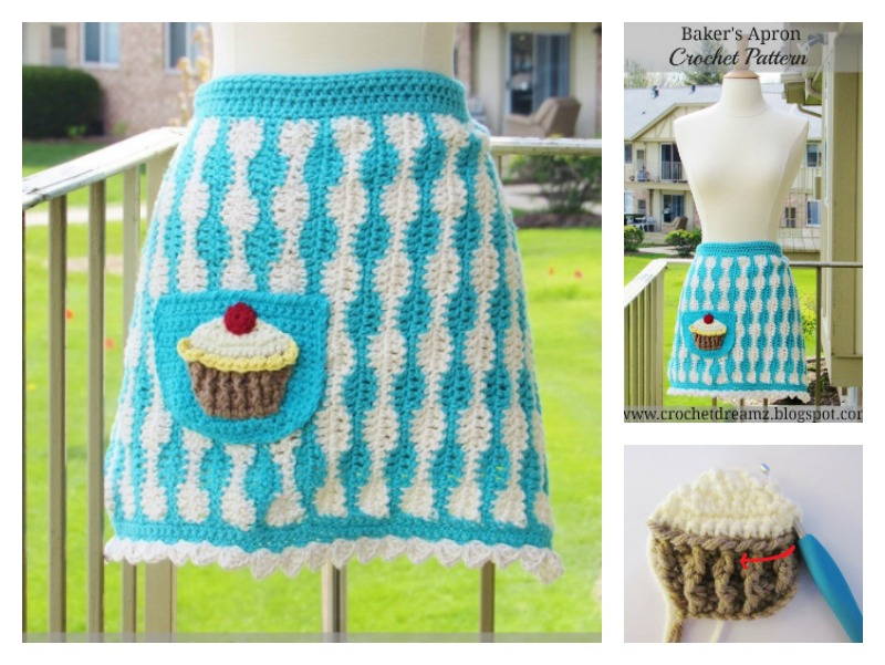 Bakers Apron With Cupcake Free Crochet Pattern