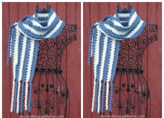 Bruges Lace Scarf with Corkscrew Fringe Free Crochet Pattern