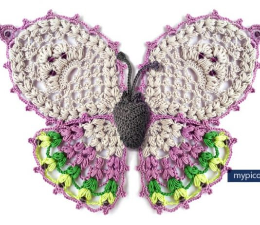 Butterfly Free Crochet Pattern