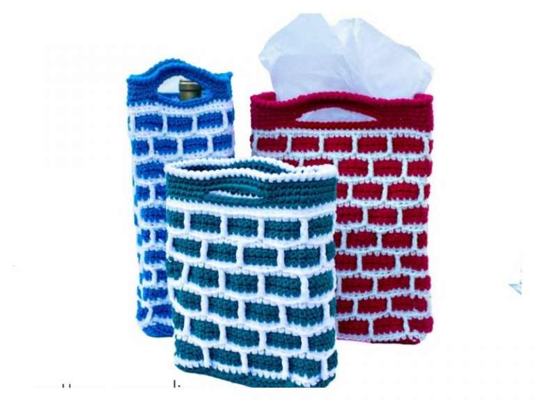Chimney Gift Bag Free Crochet Pattern