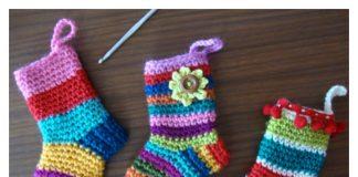 Christmas Socks Free Crochet Pattern