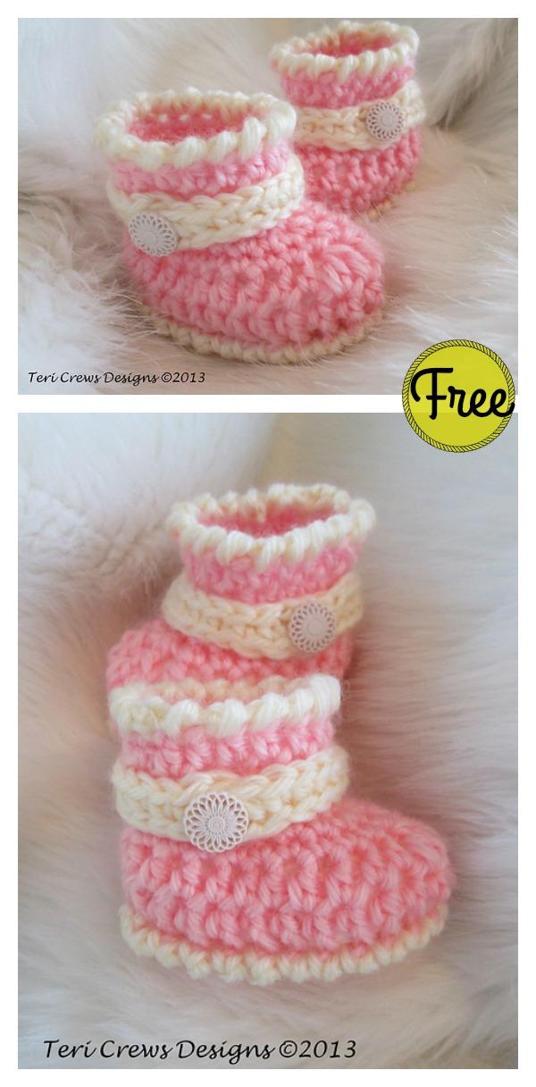 Cute Baby Boots Free Crochet Pattern