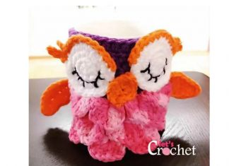 Cute Owl Mug Cozy Free Crochet Pattern