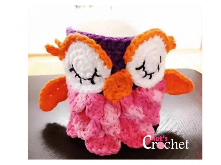 Cute Owl Mug Cozy Free Crochet Pattern