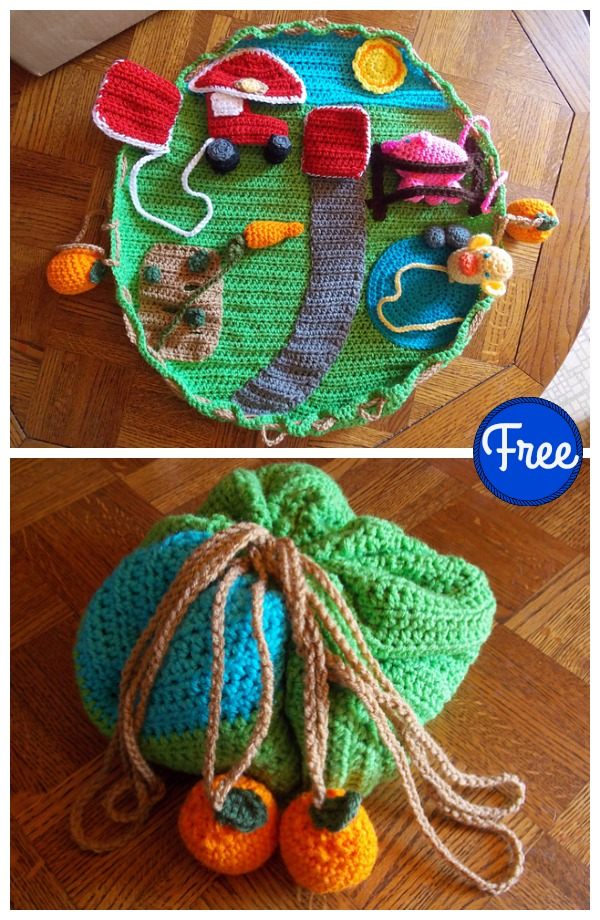 Down on the Farm Playmat Free Crochet Pattern