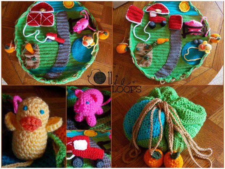 Down on the Farm Playmat Free Crochet Pattern