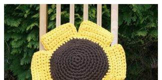 Hoopla Sunflower Cushion Free Crochet Pattern