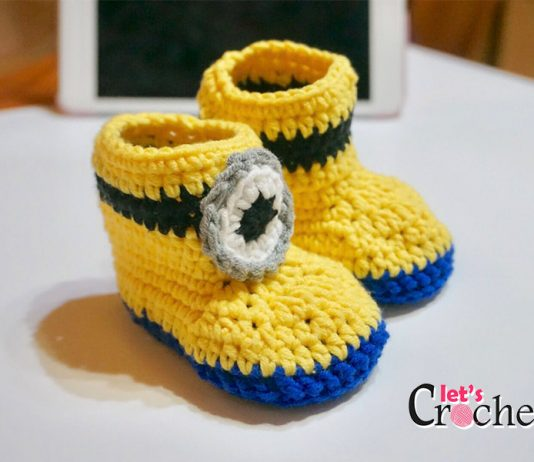Super Easy Minion Inspired Baby Booties Free Crochet Pattern