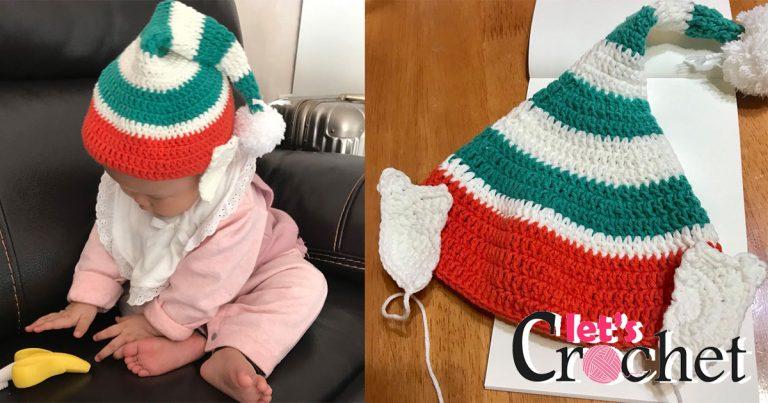 Elf Hat Free Crochet Pattern for Kids